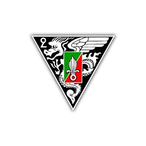 Aufkleber/Sticker 2e Régiment Étranger de Parachutistes FschJg 7x8cm A790