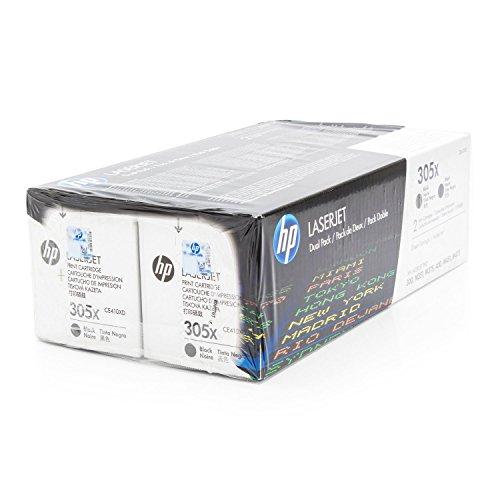 Original HP CE410XD / 305X, für Laserjet Pro 300 Color M 351 A 2X Premium Drucker-Kartusche, Schwarz, 2X 4000 Seiten