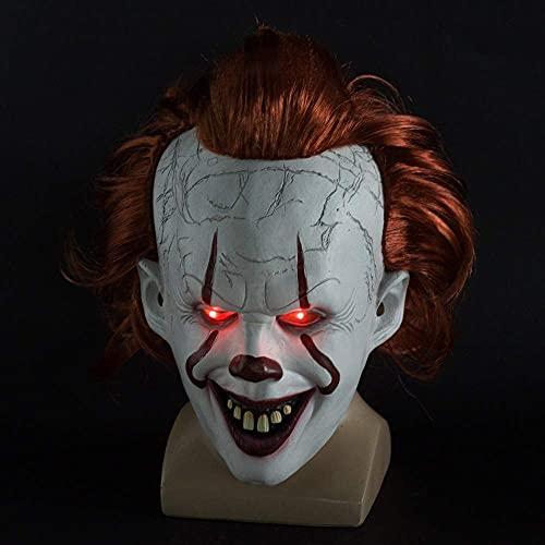 KCGNBQING Máscara de Payaso de Halloween Stephen King Película Adulto Horror Joker...