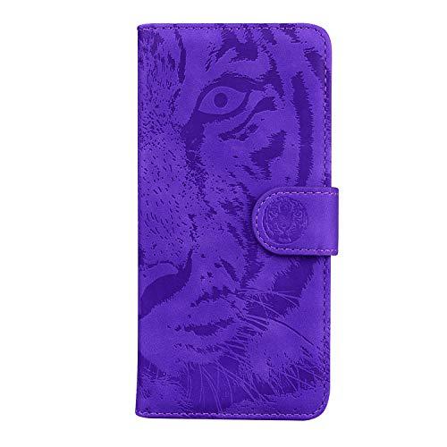 Hülle für Galaxy A21 Hülle Leder,[Kartenfach & Standfunktion] Flip Case Lederhülle Schutzhülle für Samsung Galaxy A21 - EYTX010146 Violett