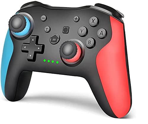 Mando pro Inalámbrico para Nintendo Switch /Switch Lite, Wireless Bluetooth Pro Controller Controlador Inalámbrico con Función Gyro Axis/Dual Shock y Turbo Mando Inalámbrico Compatible con