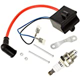 HIAORS High Performance CDI Ignition Coil Spark Plug Replacement for 49cc - 50cc 60cc 66cc 80cc 2-stroke Engine Motor Motorized Bicycle Bike With Mounting Parts