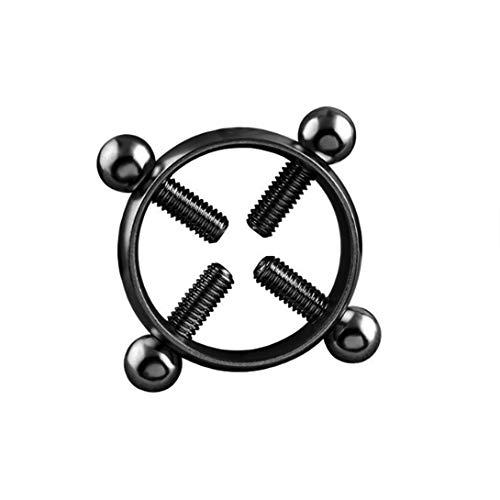 Swiftswan Antiallergischem Edelstahl Nippel-Ring-Art und Weise modischer Fälschungs-Nippel-Ring-Damen Non-Puncture Körperschmuck