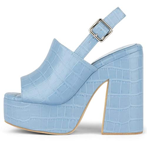 Jeffrey Campbell MATTIX Sandali Tacchi Light Blue Zeppa Scarpe Donna (37)