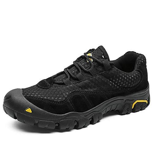 Trainer Wanderschuhe,Zapatillas Deportivas Zapatos para Correr,Botas tácticas Zapatos para Caminar al Aire Libre Zapatos Bajos de Gran tamaño-Black_42#