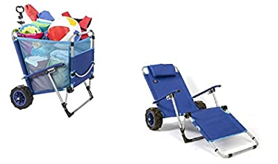 MacSports MAC Sports-Beach Day Lounger (BD-100) Blue, 1 Size