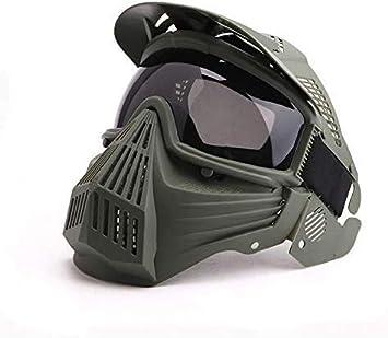 N / C Máscara De Paintball Táctica, Máscara De Pistola De Aire De Cara Completa con Gafas, Accesorios De Disfraz De Juego De Halloween BBS CS, para Equipo De Protección Táctica y esquí De Fondo