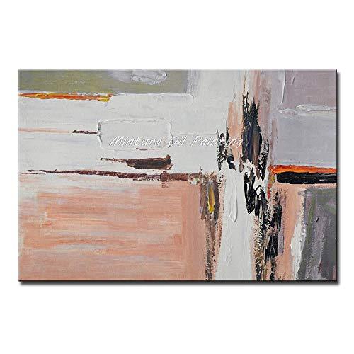 WDQTDY handbeschilderde Mintura 100% handgemaakte moderne abstracte olieverfschilderijen op canvas abstract expressionisme schilderijen voor woonkamer Art,60x90cm MT161533 met ingelijst