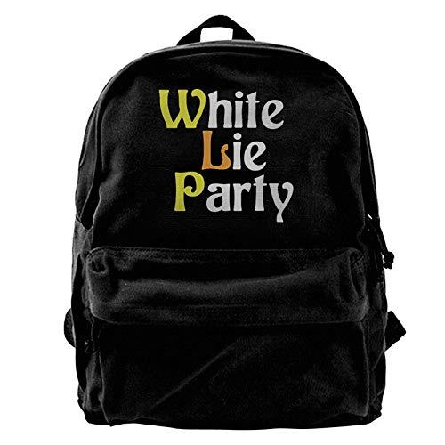 zhengdong White Lie Party Canvas Gym Escursionismo Rusa Laptop Bapa Unisex Travel Busines Daypa