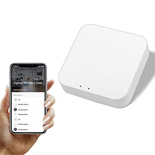 YOUYO Tuya Zigbee Puente, Smart Home Zigbee Gateway Hub, controlador Tuya Zigbee, dispositivos Zigbee de control remoto, a través de la aplicación Smart Life funciona con Alexa