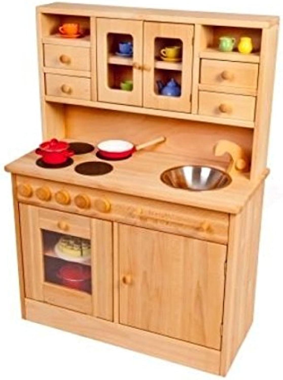 Kinder-Holz-Spielküche Hnsel 2013N - viel Platz - Herd Spüle Backofen Schrank