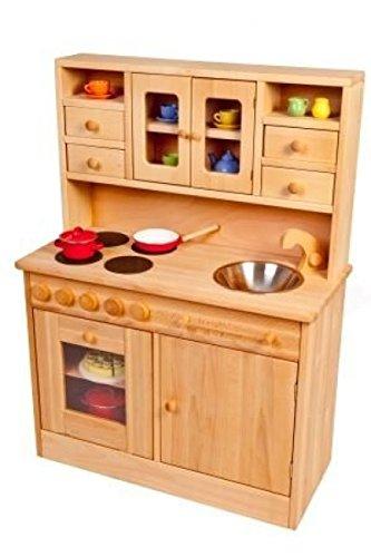 Kinder-Holz-Spielküche Hänsel 2013G - viel Platz - Herd Spüle Backofen Schrank …