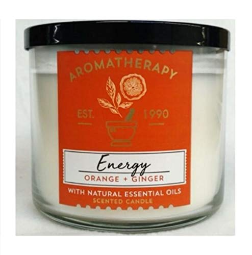 Bath & Body Works 3-Wick Scented Aromatherapy Candle - Energy - Orange & Ginger