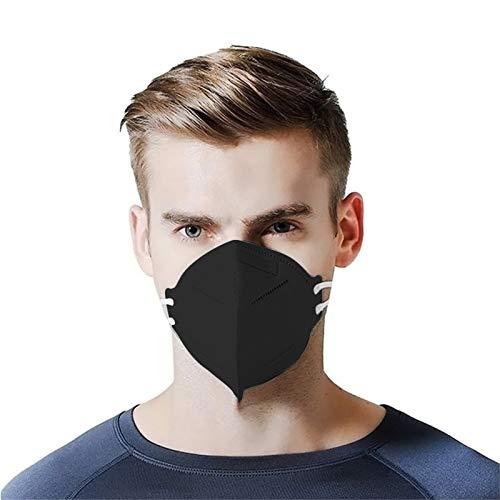BIBOKAOKE 5 Lagige Schutz Einmal-Mundschutz Mund und Nasenschutz Face Halstuch Nasenbrücke versteckt Staubmaske Hohe Filtration Einwegmaske mit Nasenclip Gesichtsschutz Bandanas