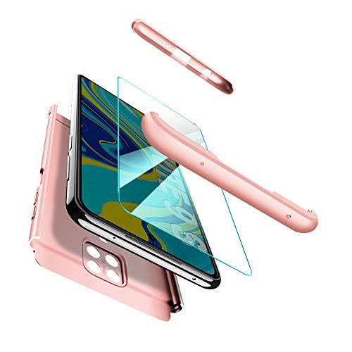 ivencase Funda para Xiaomi Redmi Note 9S + Cristal Templado, Funda 3 in 1 Rígida PC Protective Anti-rasguños Case Cover Caso para Xiaomi Redmi Note 9S / Redmi Note 9 Pro MAX/Redmi Note 9 Pro