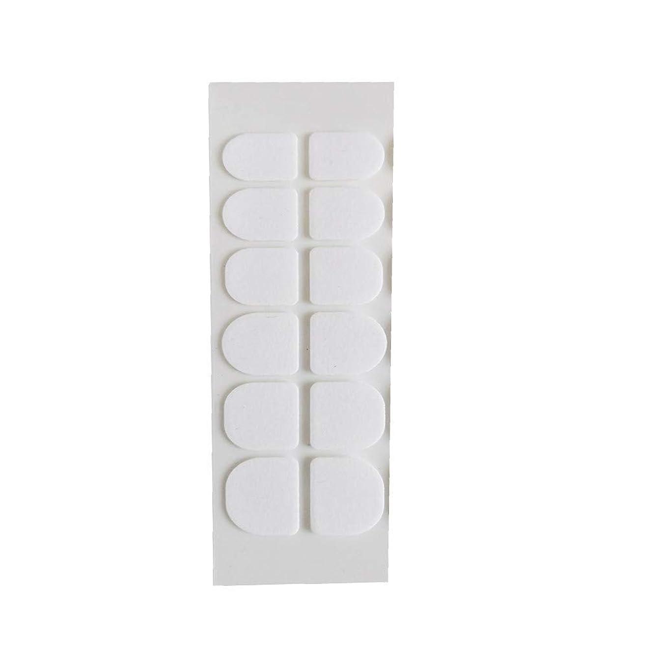 Posmant マニキュア 偽の爪 ゼリー 両面接着剤 環境に優しい 透明 目に見えない ネイルクリップ接着剤 ウェアラブルアーマー スーパースティッキー 透明 24個 5PCS 複数の色 選択できます 便利な