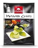 Arnaboldi Wasabi Chips 400 g, Patatine Leggermente Piccanti per Aperitivo, Cibo Giapponese - [4 Confezioni da 100g]