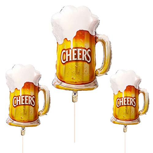 Neborn Oktoberfest Adorno Globos Cerveza Copa Papel Globo Bar Feliz Año Nuevo Fiesta de cumpleaños Boda Celebración Decoración