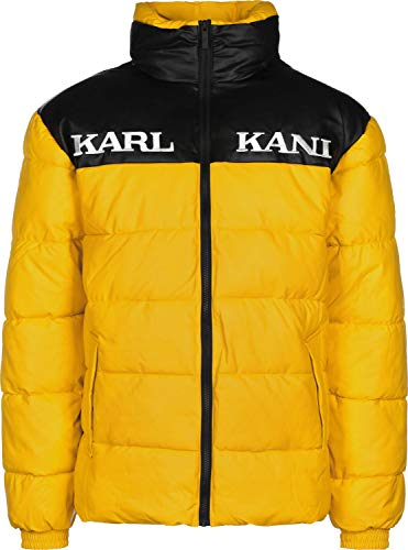 Karl Kani Retro Block PU Winterjacke Yellow/Black