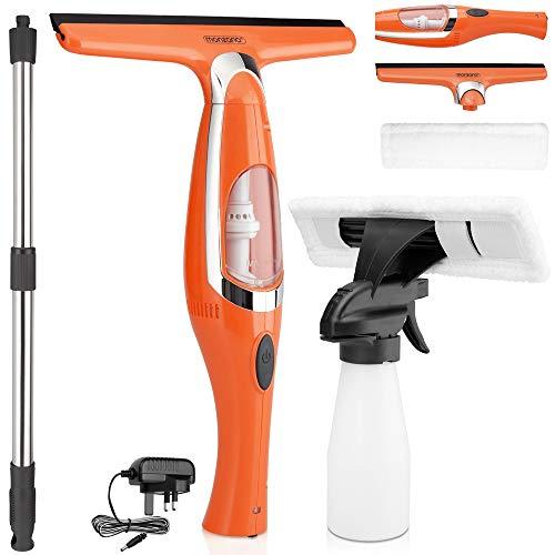 Monzana Window Vacuum Cleaner Kit | Incl. Spray Bottle Wipers Microfibre...
