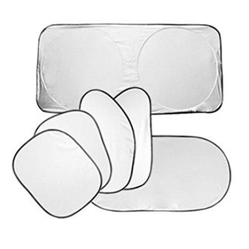B Blesiya Juego de 6 Piezas Parabrisas Delantero Trasero Lateral para Coche, Parasol Plegable, Bloque UV