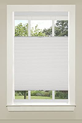 """Achim Home Furnishings Top-Down Cordless Honeycomb Cellular Pleated Shade, 39 by 64"""", White"""