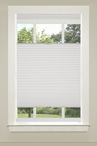 Achim Home Furnishings Top-Down Cordless Honeycomb Cellular Pleated Shade, 23 by 64', White