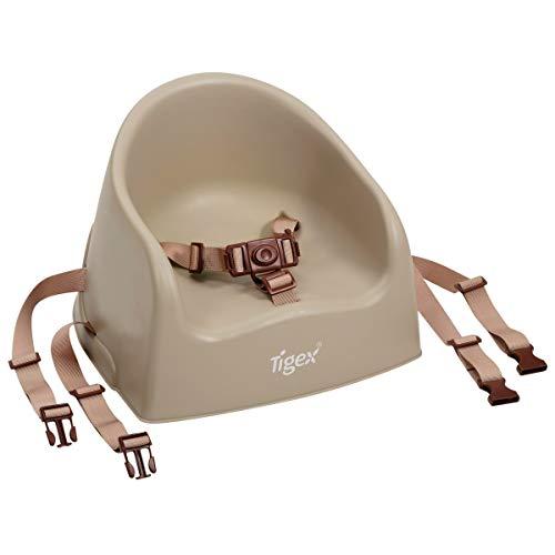 Tigex Rehausseur de Chaise Enfant, Compact et Facile à Transporter, 6-36 Mois (15kg), Taupe