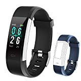 KUNGIX Orologio Fitness Tracker Smartwatch Android iOS Uomo Donna Cardiofrequenzimetro da Polso Contapassi Smart Watch Schermo a Colori Impermeabile IP68 Braccialetto (Black)