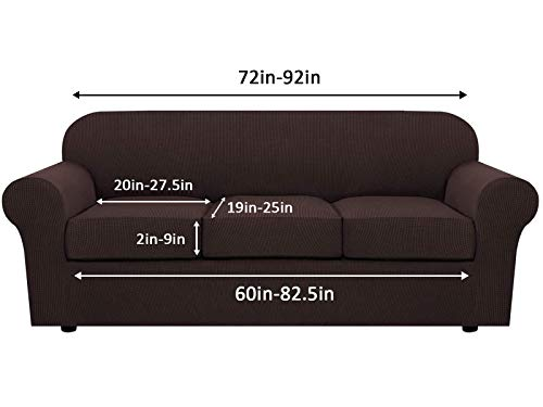 Stretch Sofa Slipcovers for 3 Seat Cushion Couch 4 Piece Sofa Slipcovers for 3 Seat Cushion Couch Leather Sofa Cover 4 Piece Couch Cover t Cushion Sofa Slipcovers 3 Seat for Furniture Sofa 3 Cushion