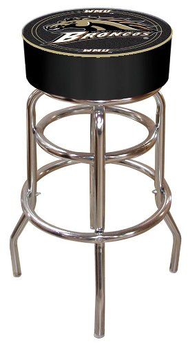 NCAA Western Michigan University Padded Swivel Bar Stool