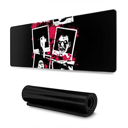 Extra Large Mouse Pad -Evil Dead Polaroids Desk Mousepad - 31.5'''' X 11.8''''x0.12''(3mm Thick)- XL Protective Keyboard Desk Mouse Mat for Computer/Laptop