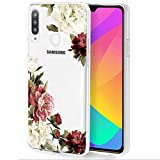 Zoeirc Galaxy A20S Case, (Not Fit A20) Samsung A20S Phone Case Clear Case for Girls Women, Soft TPU Shockproof Protective Transparent Phone Case Cover for Samsung Galaxy A20S (Blossom Flower)