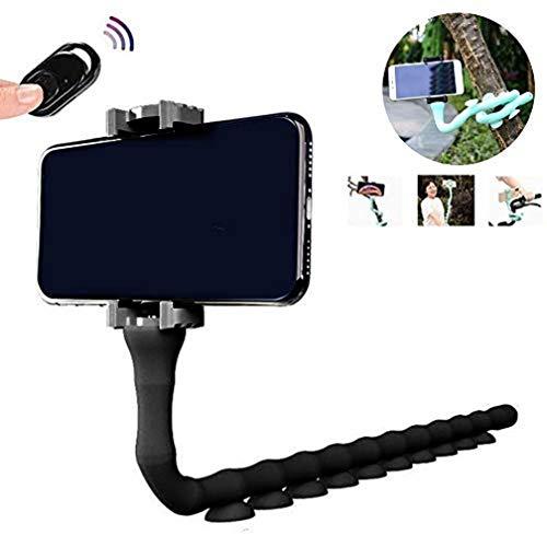 Soporte Bluetooth para oruga, con ventosa flexible, soporte para teléfono móvil, soporte para Bluetooth, para pared de casa, bicicleta de escritorio