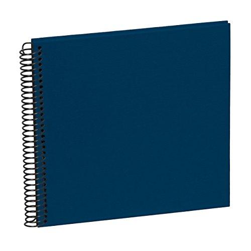 Semikolon (354868) Spiral Album Piccolino marine (blau) - Spiral-Fotoalbum mit 20 Seiten u. Efalin-Einband - Fotobuch mit schwarzem Fotokarton