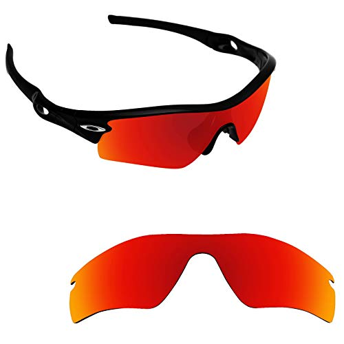 Alphax Fire Red Polarized Replacement Lenses for Oakley Radar Path