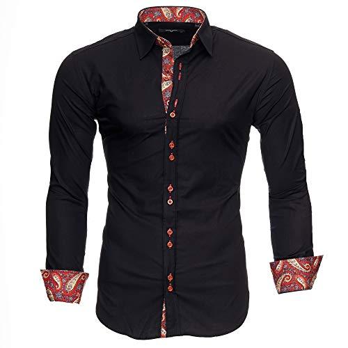 Kayhan Hombre Camisa Royal Paisley Black (L)