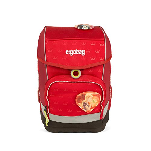 Ergobag cubo Küss den Bär, ergonomischer Schulrucksack, Set 5-teilig, 19 Liter, 1.100 g, Gold