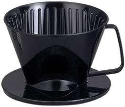 HAROLD 2661 NT1044 Plastic Coffee Maker Filter Cone, Medium, Black