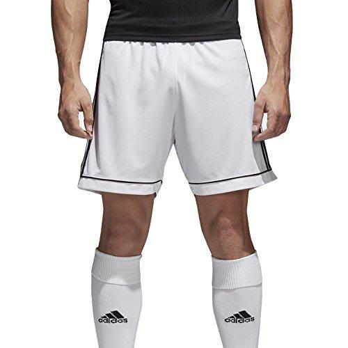 Adidas Squad 17, Pantaloncini Uomo, Bianca (White/Black), S (Talla produttore: S)