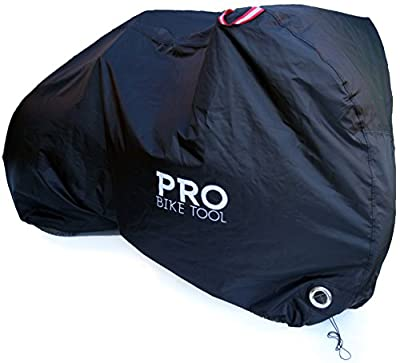 Pro Bike Cover for Outdoor Bicycle Storage - XLarge - Heavy Duty Ripstop Material, Waterproof & Anti-UV - Protection from All Weather Conditions for Mountain, 29er, Road, Cruiser & Hybrid Bikes