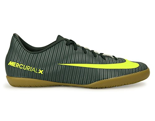 Nike Kids MercurialX Victory VI CR7 Indoor Soccer Shoes Seaweed/Volt/Hasta/White Soccer Shoes - 1Y