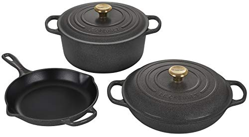 Le Creuset Enameled Cast Iron Signature Cookware Set, 5 pc. , Stone