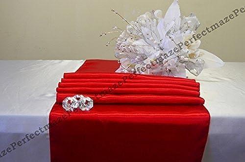 directo de fábrica Perfectmaze 12x108 (Inch) Satin Table Runner Runner Runner Wedding Party Decoration_rojo by Perfect Maze  Web oficial