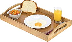 small Bamboo serving tray-Wooden tray with handle-Ideal for dinner trays, tea trays, bar trays, etc.