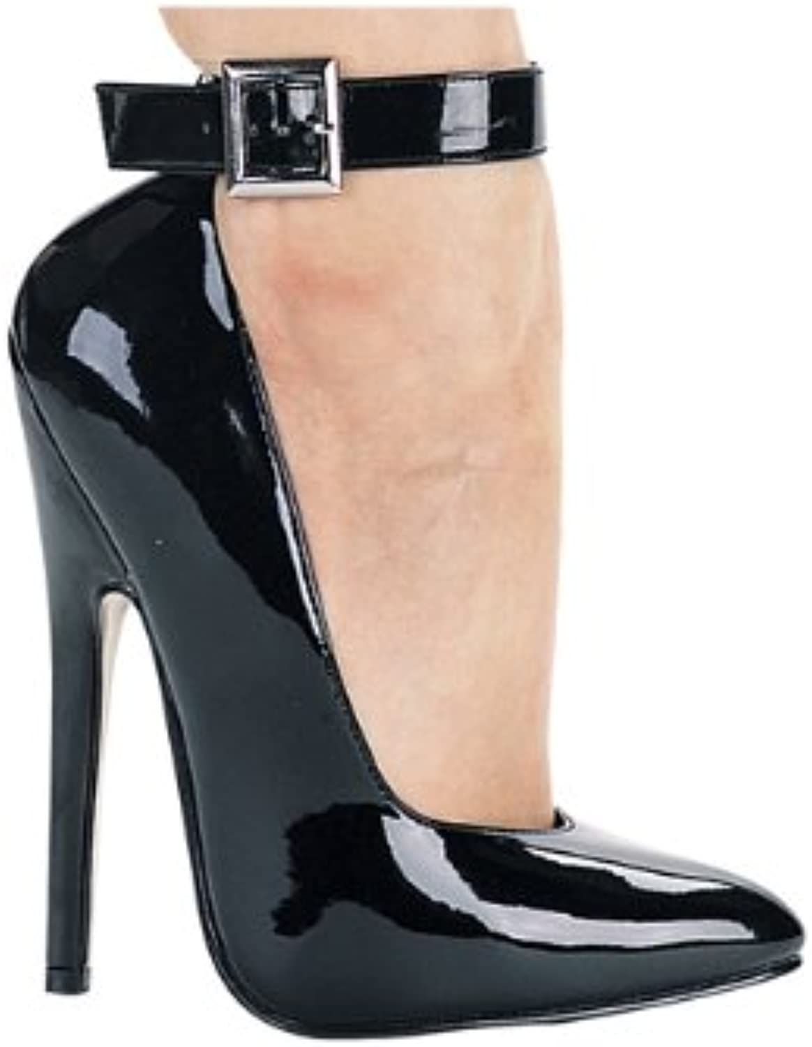 8261 Spike Heel Pump with Ankle Strap High Heel shoes