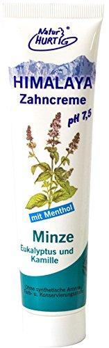 HIMALAYA Kräuterzahncreme Minze vegan von Natur Hurtig (4x75ml)