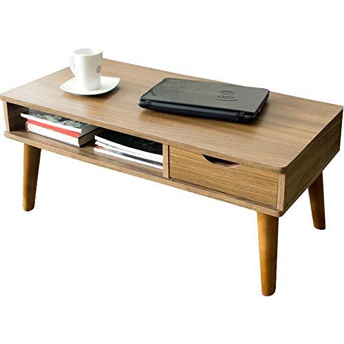 アイリスプラザ テーブル ローテーブル 収納 引き出し 木製 コンパクト ブラウン 幅約80×奥行約き40×高さ約37cm IR-8040N