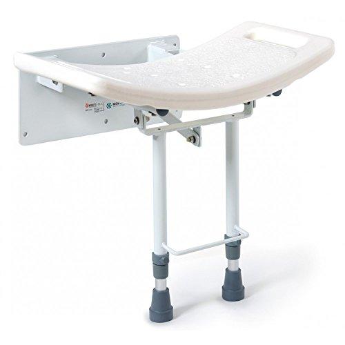 CosmoMedica - Asiento abatible de pared para baño con patas 🔥