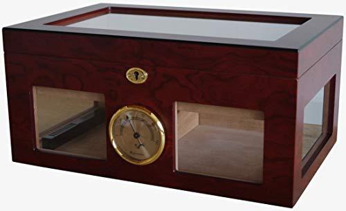 GERMANUS Zigarren Humidor '124 für ca. 125 Zigarren, Braun